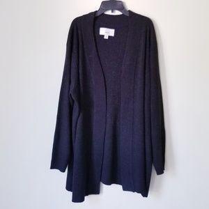 Avenue Sparkly Open Knit Cardigan EUC!